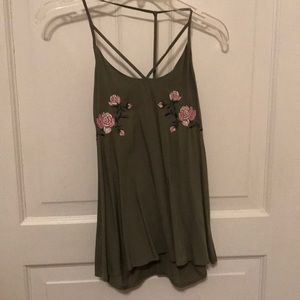 olive green summer tank